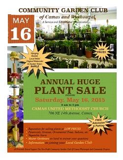 Saturday – May 16 – 9am-3pm – PLANT SALE – Camas,WA