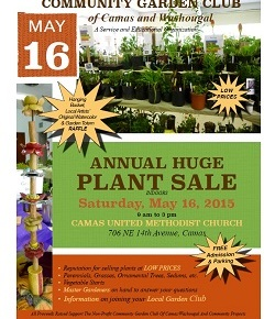 Saturday – May 16 – 9am-3pm – PLANT SALE – Camas, WA