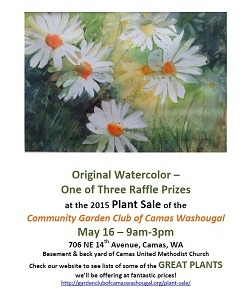 Win this Original Watercolor at our May 16 9am-3pm Plant Sale!
