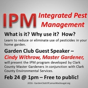 Feb 24 – IPM: Integrated Pest Management – summary & pointers