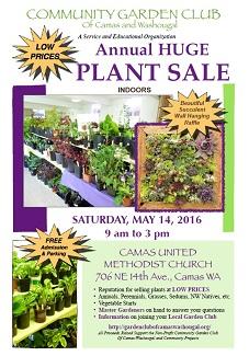 May 14, Saturday – PLANTSALE!