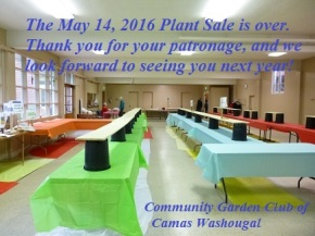 2016 Plant Sale over – THANK YOU for your patronage!