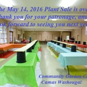 2016 Plant Sale over – THANK YOU for yourpatronage!