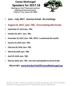 Summer break!  Next meeting is Aug 23, 2017 @1pm
