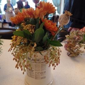 Make your own Flower Arrangement!  Nov 14th @1pm (DATECORRECTION!)
