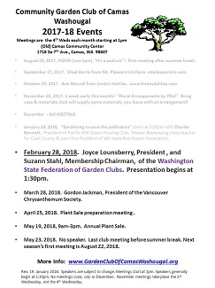 Updated 2017-18 Speaker List – February throughMay