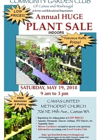 Garden Club's Annual Plant Sale!  Saturday, May 19, 9am-3pm