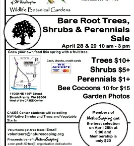 April 28 & 29, 10am-3pm Bare Root & Perennial Plant Sale – Naturescapers