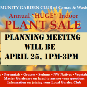 April 25 General Meeting – Plant Sale Preparation!
