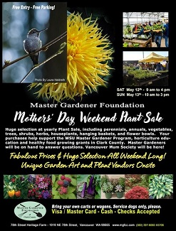 May 12 & 13, Master Gardeners Mother's Day Plant Sale!