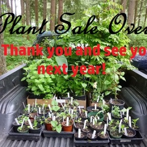 2018 Plant Sale OVER – Thank you!