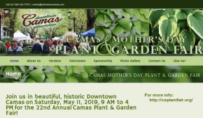 22nd Annual Camas Plant & Garden Fair – May 11th, Sat, 9am-4pm!