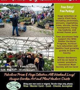 Master Gardener's Annual Plant Sale – May 11th & 12th