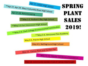 Clark County Big List of PLANT SALES – Spring 2019!