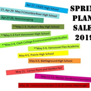 Clark County Big List of PLANT SALES – Spring2019!