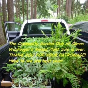 Our Annual Plant Sale is over – thank you for your patronage!