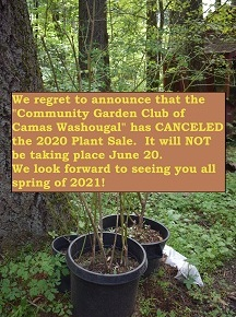 2020 Spring Plant Sale CANCELED