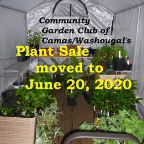Plant Sale rescheduled to June 20,2020