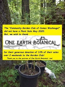 Thank you, One Earth Botanical Nursery, for your donation!