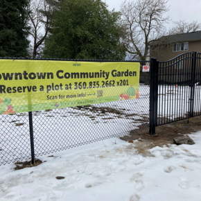 Garden plots in downtown Washougal!