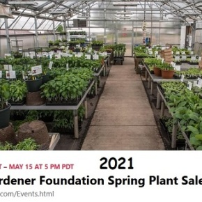 Master Gardener Foundation Plant Sale – May 5 – May 15