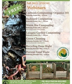 Master Composter/Recyclers – FALL CLASSES!  Learn to compost andmore!