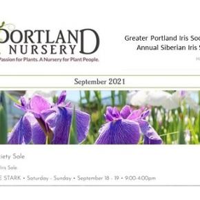 Iris Sale by GPIS – Sep 18 & 19, 9am-4pm, @ PortlandNursery
